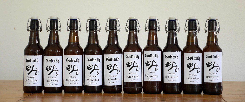 Mein erstes Bier – frisch in Flaschen abgefüllt