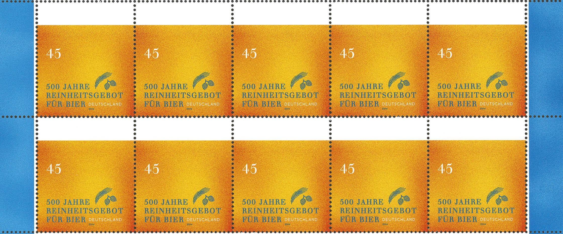 Sonderbriefmarke 500 Jahre Reinheitsgebot