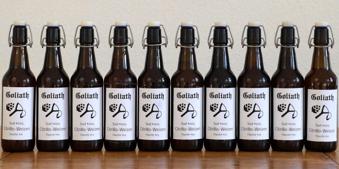 Citrillo-Weizen abgefüllt und etikettiert